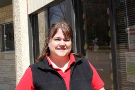 Ashley Turk is a member of Food Corps, a service program that supports local food systems. In northeast Iowa, Turk and other organizers maintain a robust network that connects growers with clients.