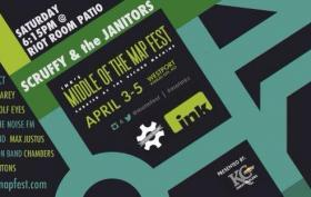 Scruffy and the Janitors play the Middle of the Map festival Saturday, April 5, on the back patio of the Riot Room at 6:15 p.m.