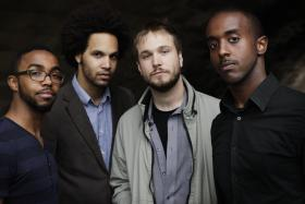 Hermon Mehari (far right) is a trumpeter with the band Diverse. Other members include (from left) Ryan J. Lee, Tony Tixier and Ben Leifer.
