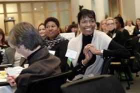 The Kauffman Foundation held a Global Women's Summit in 2011 where women entrepreneurs gathered to network and get advice on growing their businesses.