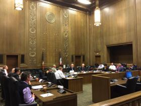 The KCI Terminal Advisory Group met at City Hall Tuesday morning.