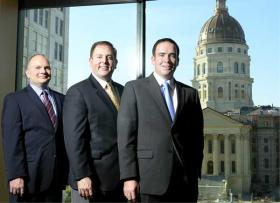 From left to right: George Stafford, David Kensinger, and Riley Scott,  the founding partners of Parallel Strategies.