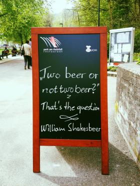 Iambic pentameter and alcohol go together at ShakesBEER this weekend.