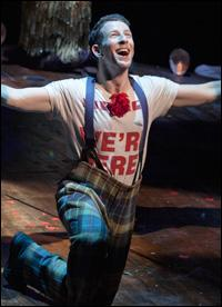 Nick Blaemire starred, with his guitar, in the Broadway revival of 'Godspell.'