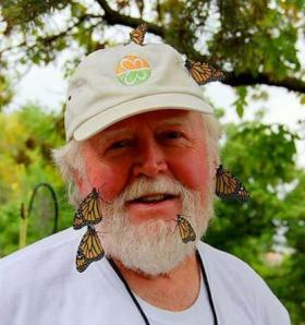 Insect ecologist Chip Taylor gets up close and personal with monarch butterflies.