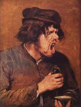 Experts agree that hate is a bitter potion (Adriaen Brouwer, The Bitter Potion at the Stadel, Frankfurt).