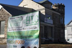 The small store is in the basement of the World Harvest Ministries church in Kansas City's Ivanhoe neighborhood.
