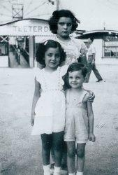 Maria Brancato Accurso (bottom left) and cousins spend the day at Fairyland Park in 1945.