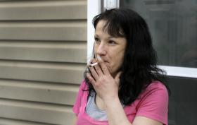 Housing Authority resident Kerrie Terry opposes the smoking ban.
