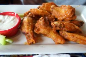Buffalo-style is one of the most popular sauces for chicken wings. Watch out for the heat.