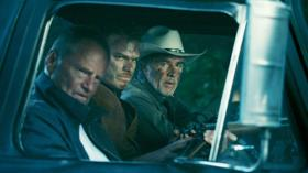 Sam Shepard, Michael C. Hall, and Don Johnson form an unlikely trio seeking vengeance in 'Cold in July.'