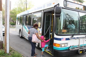 Kara McGowan takes two buses to Operation Breakthrough where her kids go to day care, then two more to her job.
