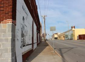 A view looking west to Troost from the Laugh-O-Gram Studio at 31st and Forest, Kansas City, Mo.