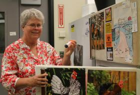 Iowa State's Sue Lamont studies diseases that affect poultry in Africa.