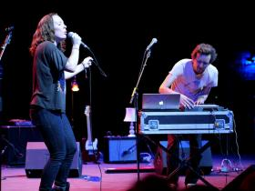 Sylvan Esso, pictured here, is just one of the groups that our music lovers picked as one of the best of 2014 so far.