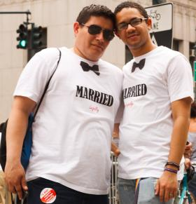 A couple who married in New York in 2011.