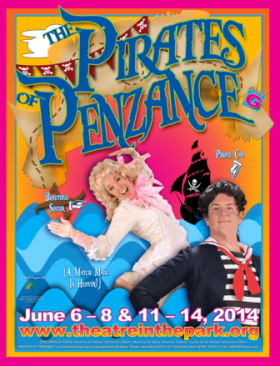 "Theatre in the Park presents ""The Pirates of Penzance"" at Shawnee Mission Park."