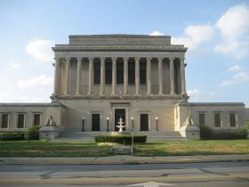 Kansas City Scottish Rite Building located at the intersection of Paseo and Linwood Boulevard.