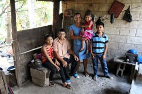 This is a family in Guatemala who has received support from Unbound.