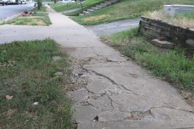Troostwood Neighborhood Association president Wanda Taylor says she'd like to find other grant money to fix sidewalks that weren't updated during the Green Impact Zone project.