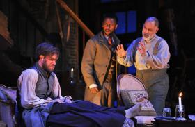 Kyle Hatley, Josh Breckenridge, and Michael Genet in 'The Whipping Man' (2012).