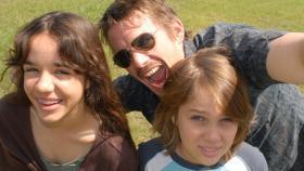"Mason Sr. (Ethan Hawke) and his kids, Samantha (Lorelei Linklater) and Mason Jr. (Ellar Coltrane) in ""Boyhood."""
