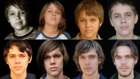 """Richard Linklater's """"Boyhood"""" was filmed over more than a decade. Ellar Coltrane, shown here throughout the years, played Mason."""