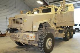 The Clay County Sheriff's MRAP (Mine Resistant Ambush Protected) vehicle acquired in April from the Department of Defense.