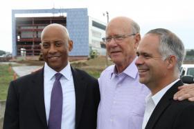 Department of Homeland Security Undersecretary Reginald Brothers got a tour of the NBAF site with Senators Pat Roberts and Tim Huelskamp.