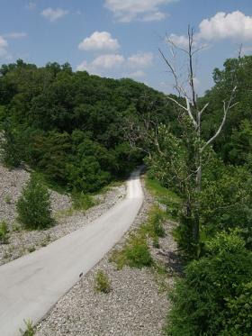 The Katy Trail stretches from Machens, Mo., to Clinton, Mo.