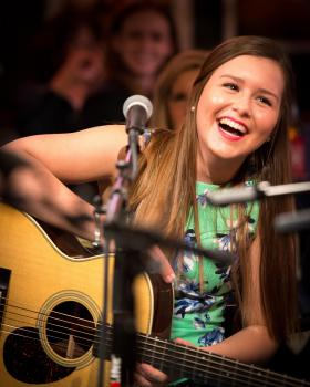 Singer-songwriter Gracie Schram is finding her place on the stage at age 16.