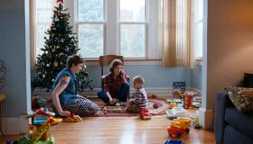 "Lena Dunham and Anna Kendrick attempt a babysitting job with Jude Swanberg in ""Happy Christmas."""