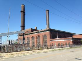 The Veolia power plant, just north of downtown Kansas City.