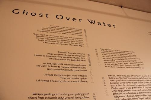 The poems on display at the Leedy-Voulkos gallery.