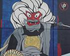 Detail from a mural on Bartle Hall in Kansas City celebrating the sister-city relationship with Kurashiki, Japan.