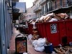 Trash in the French Quarter