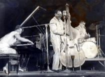 Bettye Miller (on piano) and Milt Abel (on bass)