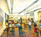 Here, an artist's rendering envisioned a typical classroom in the Ford Learning Center, which opened to the public in 2005. Total museum classroom space nearly tripled with the opening of the new facility.