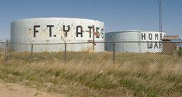 The Fort Yates water tanks sit on a high bluff overlooking North Dakota's southern plains.  In 2003, the town lost its public water supply for five days.
