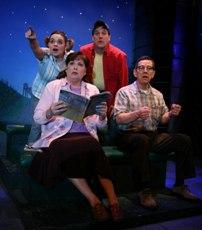 Road Trip! Debra Bluford, Jessalyn Kincaid, Craig Benton and Jim Korinke star in Leaving Iowa January 12 through February 25, 2007 at the American Heartland Theatre in Crown Center.