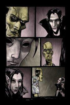 A page from Hector Casanova's comic book-in-progess, <i>Screamland</i>.