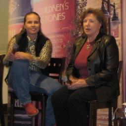 Cowgirls Billie Franks and Jan Lyons at the Kansas City Public Library.