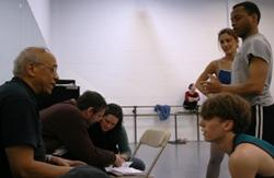 Donald McKayle talks to Kansas City Ballet dancers during a recent rehearsal
