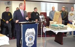 Kansas City Police held a press conference  about the statewide drug bust that resulted in more than 70 arrests.