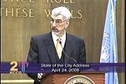 Kansas City Mayor Mark Funkhouser delivers his 2008 State of the City address.
