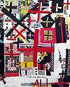 """Artist: Sun Smith-Foret, Elsah, IL """"Ali"""" (detail), 2008, Mixed media textile, 86 in. x 86 in."""