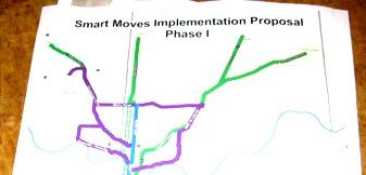 Missouri Suburban leaders set their  sights. Shown  is phase one of a  working document. A network of fast buses  would be a rapid transit priority.