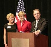 Phill Kline, his wife, Deborah, and daughter Hillary.