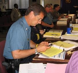 K.C. Police Colonel Cy Ritter wrestles budget, expecting black ink to  win.