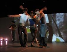 Dancers during a rehearsal of Ritual of the Body Electric at la Esquina